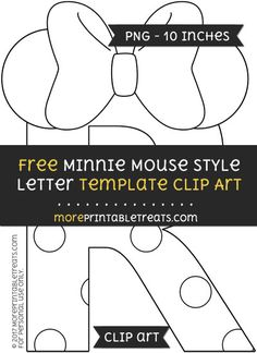 free minnie mouse style letter a template clipart minnie mouse