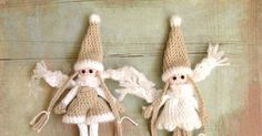 kabouter haken   Het heeft even geduurd maar Inger de winterkabouter  heeft een zusje gekregen. Ze draagt een tuinbroekje en is in dezelfd... Tiny Dolls, Crochet Dolls, Elves, Reindeer, Free Pattern, Fairy, Christmas Ornaments, Holiday Decor, Mini