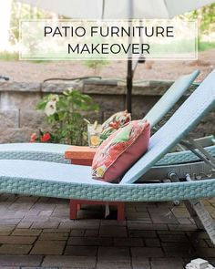 One Day Patio Furniture Makeover with Spray Paint Patio Furniture Makeover, Outdoor Furniture, Outdoor Decor, Diy Wood Wall, Wood Art, Hammock, Spray Paint Wood, Hunts, Painting On Wood