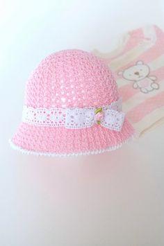Bebé niño niña sol sombrero recién nacido foto apoyos ganchillo algodón  infantil niñas rosa verano sombrero a3082704161