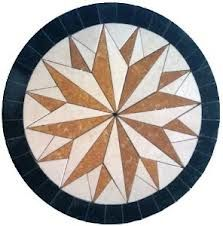 oval mosaic tile medallion floor pattern - Google Search
