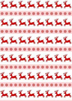 Free digital reindeer scrapbooking paper - ausdruckbares Weihnachtspapier - freebie   MeinLilaPark – DIY printables and downloads