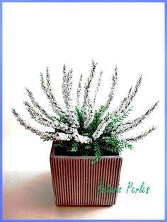 Fleurs en perles Bruyère blanche grandeur nature : Accessoires de maison par botanic-perles