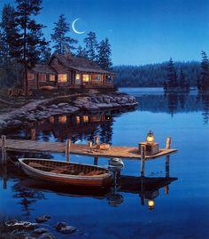 Crescent Moon Bay - Darrell Bush - World-Wide-Art.com
