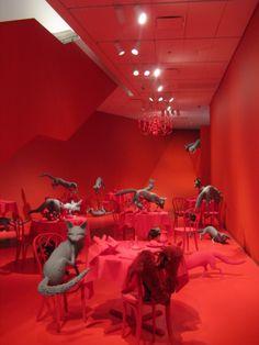 """The impressive """"Fox Games"""" installation (1989), by Sandy Skoglund. At the Denver Art Museum."""
