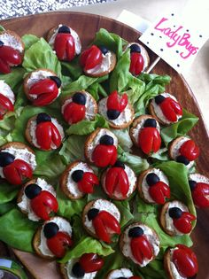 Lady bug snacks