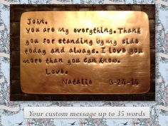 Wallet love note. Hand stamped copper. by SimplyYoursByDesign, $25.00
