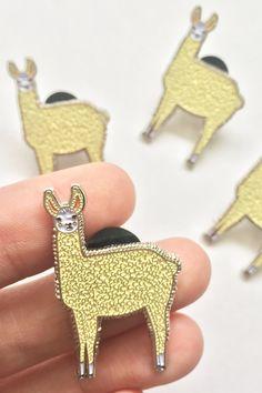 Llama Enamel Pin