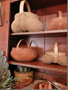 Country Decorating with baskets
