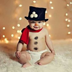 Snowman baby @Tabitha Gibson Gibson Gibson... So cute!!!
