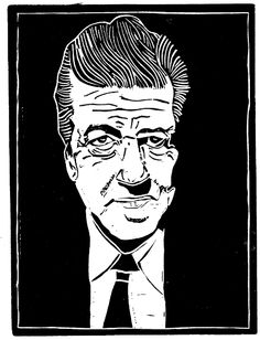 David Lynch  (woodcut by Loren Kantor)