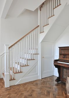 Fresh country living with that 'wow' factor! A solid oak and Farrow & Ball white staircase designing for this family home in Cowbridge, Cardiff.