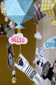 Paper mobiles by Les Colocataires £ 11,50