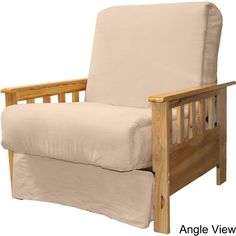 Epicfurnishings Provo Perfect Sit And Sleep Mission Style Pillow Top Futon Chair Medium Oak