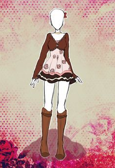 Costume Design by Scarlett-Knight on DeviantArt Anime Outfits, Cool Outfits, Manga Posen, Chibi Kawaii, Anime Dress, Illustration Mode, Drawing Clothes, Character Outfits, Fashion Sketches