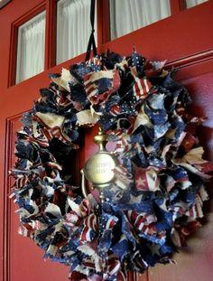 Easy DIY Patriotic Wreath Tutorial - Simple Sojourns