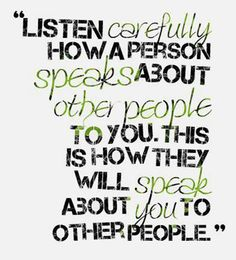 Gossips will gossip, those that tear down live to tear down..