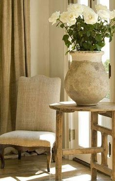 How to Style Your Home With a Rustic White French Farmhouse Look & Timeless French Inspired Decor – Hello Lovely – French Farmhouse Decor French Country Interiors, Country Interior Design, French Farmhouse Decor, French Country Bedrooms, French Home Decor, French Country House, French Country Decorating, Interior Design Inspiration, Farmhouse Style