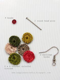 Crochet Circles Earrings Tutorial