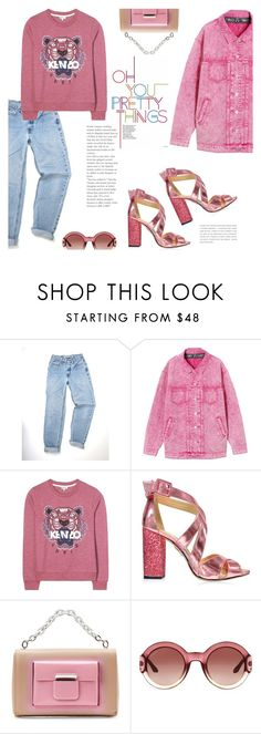 """""""Keep it Pink"""" by lisalockhart ❤ liked on Polyvore featuring Kenzo, Charlotte Olympia, Balenciaga and Gucci"""