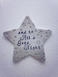 Metal stamped Christmas Star Ornament by SilverBlissShop on Etsy