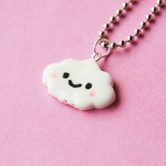 Kawaii Happy Cloud Necklace by BabyLovesPink on Etsy, $15.00