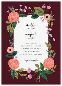September Herbarium (Invitation) - Merlot - Paperless Post