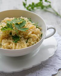 Orzo Pilaf with Parsley Recipe
