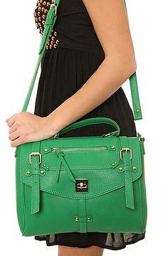 Miss KL Street Level The Emily Bag in Emerald Green - Loving this bag!