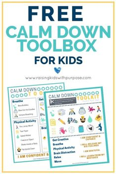 When kids have a tough time with emotional or self regulation, it can be hard on everyone in the family. Here is a free resource that will help your child calm down from their big feelings, meltdowns and tantrums. Emotional Regulation, Self Regulation, Coping Skills, Social Skills, Behavior Management, Classroom Management, Parenting Advice, Kids And Parenting, Social Emotional Learning