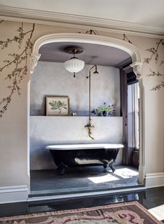 Inviting Home Inspired   Brooklyn townhouse bathroom designed by Roma and Williams; photo by Bruce Buck for The New York Times