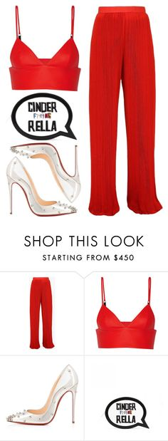 """Bold Reds"" by kimeechanga ❤ liked on Polyvore featuring Balmain, T By Alexander Wang, Christian Louboutin and Rella"