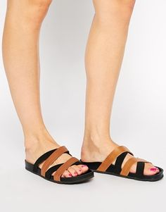 Enlarge New Look Wide Fit Flexi Elastic Strap Flat Sandals