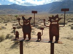 GIVE AND TAKE STATUES: Deeply Philosophical Statues off Route 395