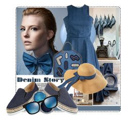 Denim story.... by tinuviela on Polyvore featuring Jimmy Choo, STELLA McCARTNEY, Oliver Peoples and Essie