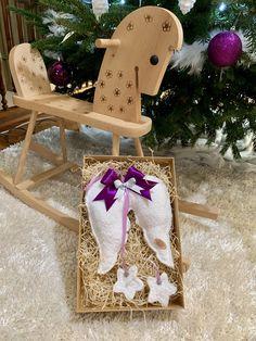 Handmade - Ručne šité anjelské krídla, cca 20cm veľké + stuha. Celá výška 45cm. Amart design Angel Wings, Christmas Ornaments, Purple, Holiday Decor, Handmade, Home Decor, Hand Made, Decoration Home, Room Decor