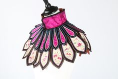 Embroidered silk cloud collar Chinese early 20th c.