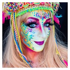 Painted by Sôkkertantes Paintertainment Ingrid Breugelmans Adult Face Painting, Too Faced, Face Art, Mardi Gras, Swirls, Fashion Art, Facial, Halloween Face Makeup, My Arts