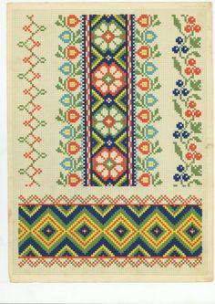 ru / Foto # 46 - Do tronco - Cross Stitch Borders, Cross Stitch Rose, Cross Stitch Charts, Cross Stitching, Cross Stitch Embroidery, Cross Stitch Patterns, Peyote Beading Patterns, Seed Bead Patterns, Palestinian Embroidery