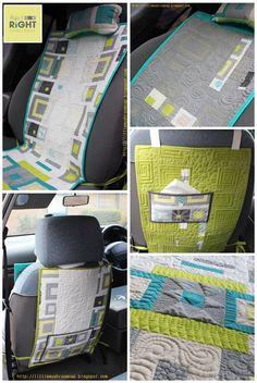 Reversible Car Seat Pad & Neck Pillow by Amira Ameruddin