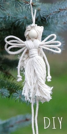 Easy diy angel christmas craft idea diyangel christmascrafts craftideas easycrafts easydiy macrame angels dolls diy christmas crafts for kids easy craft projects for christmas 2020 Christmas Angels, Christmas Holidays, Christmas Decorations, Christmas Ornaments, Christmas Wedding, Christmas Cookies, Christmas Quotes, Christmas Tree, Christmas Poinsettia