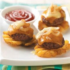 mini burger potato bites