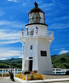 """Historic Akaroa #Lighthouse moved into the middle of town 1980 & fully restored by local historical society! NZ's only fully functional """"non-commissioned"""" Lighthouse. Another DIY Lighthouse that #NZ is famous for! Answer, import the light and clockwork hardware from Scotland, hand saw all the timber from the local forests, get some old plans, sketch them up a bit... http://dennisharper.lnf.com/"""