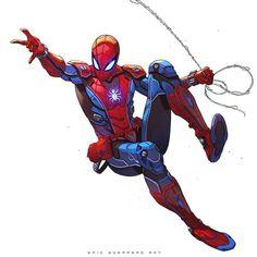 Spider-Man by Eric Guerrero Marvel Comics Art, Marvel Heroes, Marvel Characters, Spiderman Art, Amazing Spiderman, Comic Books Art, Comic Art, Marvel Drawings, Superhero Design