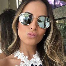 f0f46d40455fc 2017 mulheres Novas Dos Homens óculos de Sol Espelho Senhora Marca de Moda  Designer de hexágono