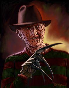 Freddy by Bill Galvan Horror Icons, Horror Art, Horror Movies, New Nightmare, Nightmare On Elm Street, Freddy's Nightmares, Horror Photos, Famous Monsters, Evil Clowns