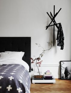Cool and Creative DIY Coat Rack Ideas // focus on the minimal essentials: plan your entryway with home decor inspiration that revolves around the simple, clean, modern, and scandinavian Home Bedroom, Bedroom Decor, Bedrooms, Scandi Bedroom, Bedroom Small, Bedroom Inspo, Bedroom Apartment, Interior Inspiration, Design Inspiration