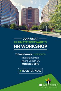 On October 5th, we're hosting a complimentary HR workshop in the DC area. Guest speakers include Rita Trehan and other industry experts. During the event, we'll cover topics like how to transform HR to unleash capacity in your organization, how to improve performance management through difficult conversations, how people-centric HCM technologies can improve your organization, compliance-related topics, and more!  Register here: http://ulti.pro/2cdoK2w