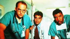 No Merchandising. Editorial Use Only. No Book Cover Usage.Mandatory Credit: Photo by Warner Bros TV/Amblin TV/Kobal/REX/Shutterstock (5885629c)Anthony Edwards, George Clooney, Eriq La SalleEr Emergency Room - 1994Warner Bros TV/Amblin TVUSATelevision