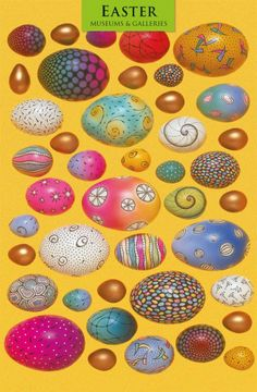 Easter Cards 'Painted Eggs' by Cathy Usiskin. Painted in 1980 but a timeless, beautiful piece of 'oil on canvas' art work.